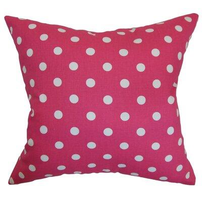 Dunkel Polka Dots Floor Pillow Color: Fuschia/White