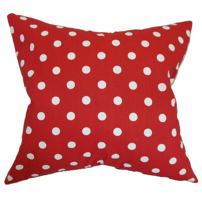 Dunkel Polka Dots Floor Pillow Color: Lipstick Red