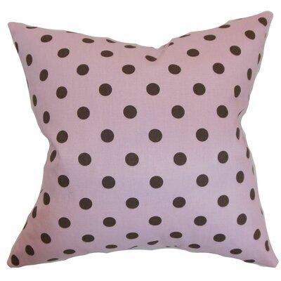 Dunkel Polka Dots Floor Pillow Color: Pink/Black