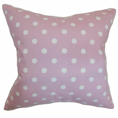 Dunkel Polka Dots Floor Pillow Color: Pink/White