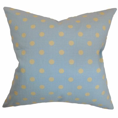 Dunkel Polka Dots Floor Pillow Color: Blue/Yellow