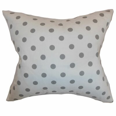 Dunkel Polka Dots Floor Pillow Color: White
