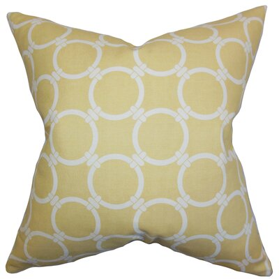 Burt Geometric Floor Pillow Color: Saffron Yellow