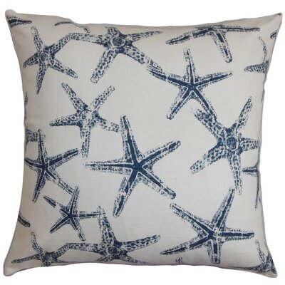 Yarbrough Coastal Floor Pillow Color: Navy Blue