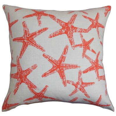 Yarbrough Coastal Floor Pillow Color: Red
