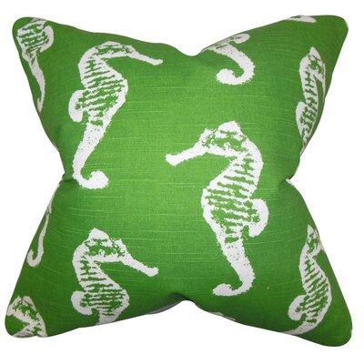 Logan Coastal Floor Pillow Color: Green