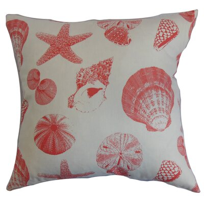 Sumter Aquatic Floor Pillow Color: White/Coral