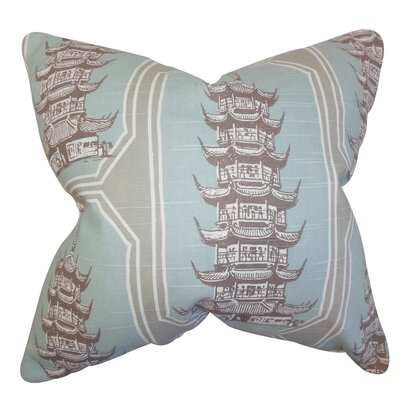 Demers Geometric Floor Pillow Color: Blue