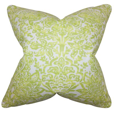 Pavia Dorrough Floral Floor Pillow Color: Green