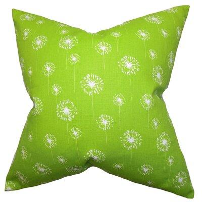Dallin Floral Floor Pillow Color: Green