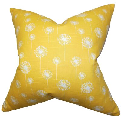 Dallin Floral Floor Pillow Color: Yellow