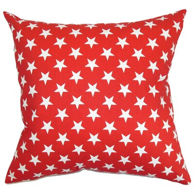 Aegean Stars Floor Pillow Color: Red