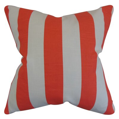 Morell Stripes Floor Pillow Color: Orange