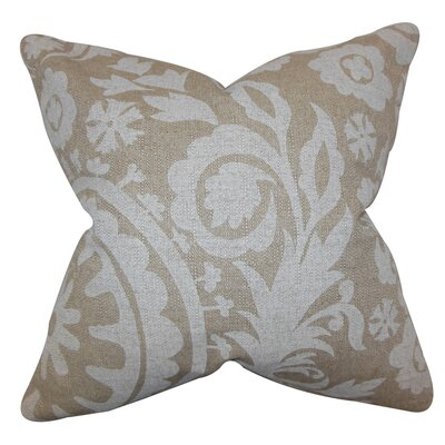 Darian Floral Floor Pillow Color: Natural