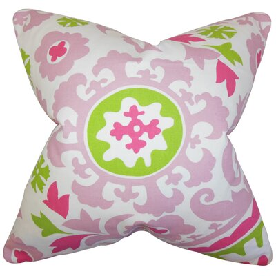 Darian Floral Floor Pillow Color: Candy Pink