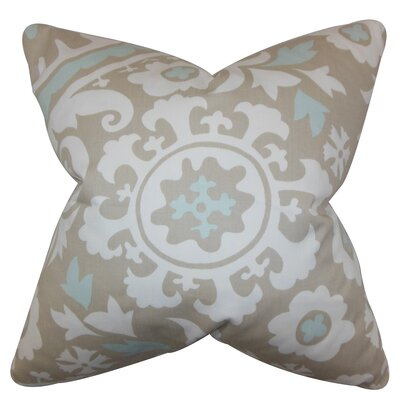 Darian Floral Floor Pillow Color: Powder Blue