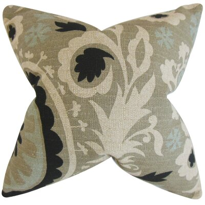 Darian Floral Floor Pillow Color: Stone