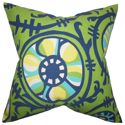 Brinsley Geometric Floor Pillow Color: Green