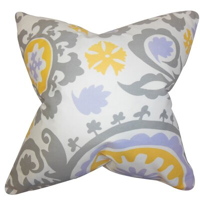 Brinsley Geometric Floor Pillow Color: Gray