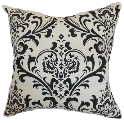Kiara Damask Floor Pillow Color: Black/White