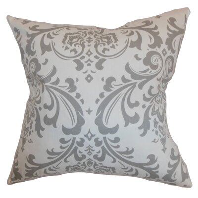 Kiara Damask Floor Pillow Color: Storm Twill