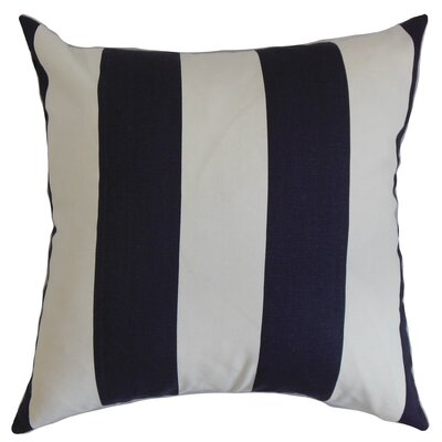 Tyrique Stripes Floor Pillow Color: Blue/White