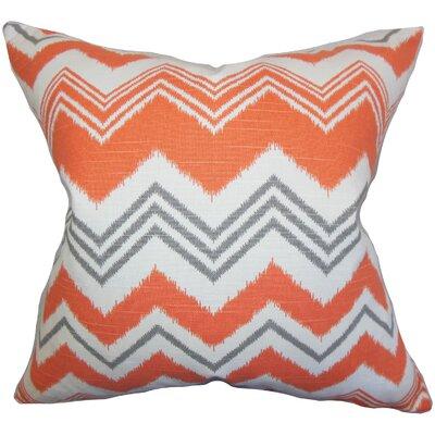 Hazlett Zigzag Floor Pillow Color: Orange