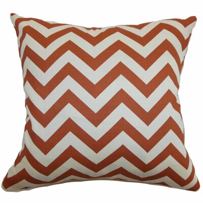 Burd Zigzag Floor Pillow Color: Red/Natural