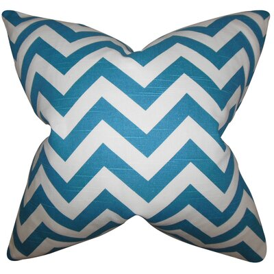 Burd Zigzag Floor Pillow Color: Turquoise