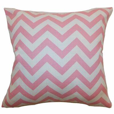 Burd Zigzag Floor Pillow Color: Baby Pink