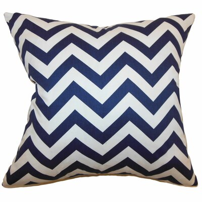 Burd Zigzag Floor Pillow Color: Blue