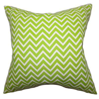 Burd Zigzag Floor Pillow Color: Chartreuse