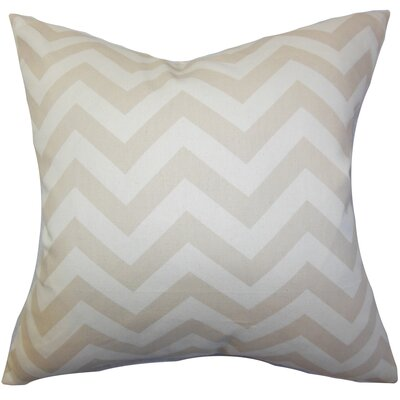 Burd Zigzag Floor Pillow Color: Khaki