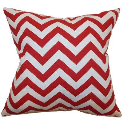 Burd Zigzag Floor Pillow Color: Lipstick White