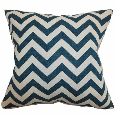 Burd Zigzag Floor Pillow Color: Titan Birch