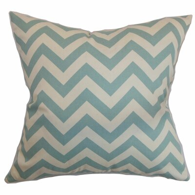 Burd Zigzag Floor Pillow Color: Blue/Natural