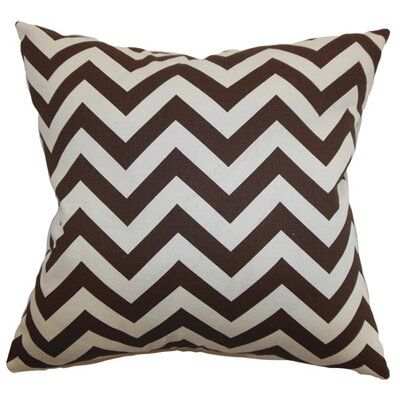 Burd Zigzag Floor Pillow Color: Brown/Natural