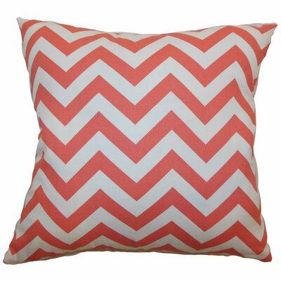 Burd Zigzag Floor Pillow Color: Coral White