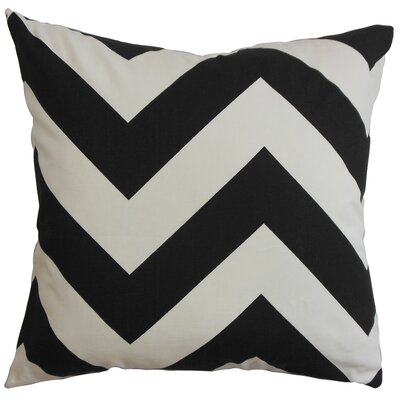 Rye Zigzag Floor Pillow Color: Black/White