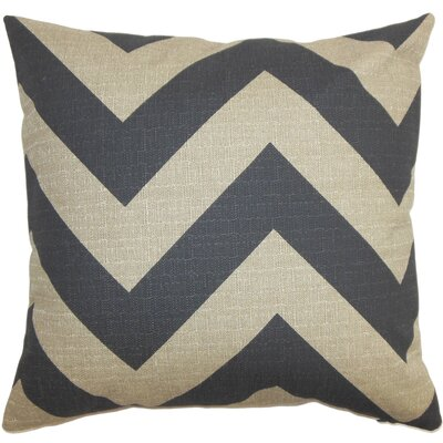 Rye Zigzag Floor Pillow Color: Gray/Natural