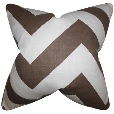 Rye Zigzag Floor Pillow Color: Brown