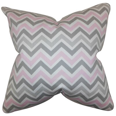 Downend Zigzag Floor Pillow Color: Pink/Gray