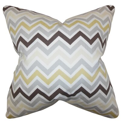 Downend Zigzag Floor Pillow Color: Gray