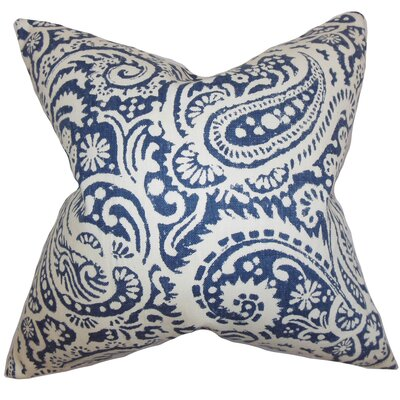 Avenall Paisley Floor Pillow Color: Indigo