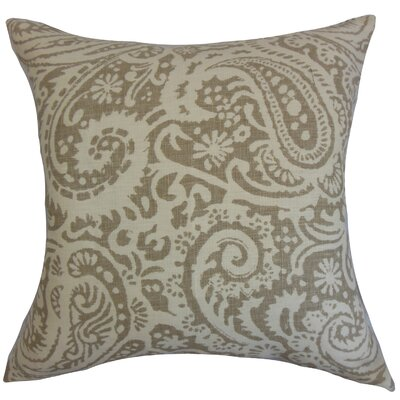 Avenall Paisley Floor Pillow Color: Stone