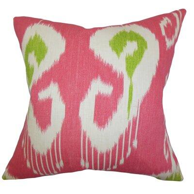 Burgoon Ikat Floor Pillow Color: Pink