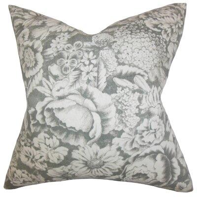 Melinda Floral Floor Pillow Color: Gray