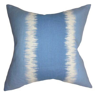 Fountaine Geometric Floor Pillow Color: Blue