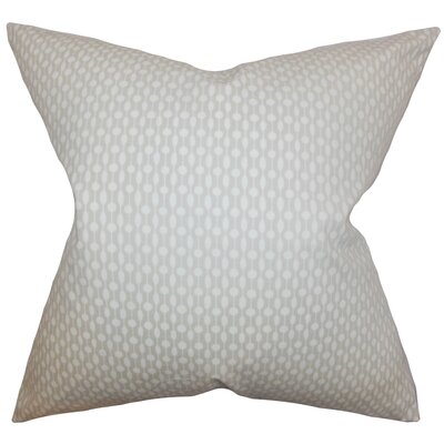 Hartnett Geometric Floor Pillow Color: Oyster