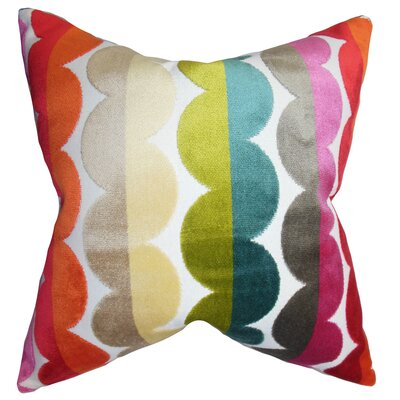 Kiel Geometric Floor Pillow Color: Bold